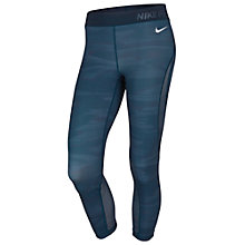Buy Nike Pro Hypercool Training Capris, Blue/White Online at johnlewis.com