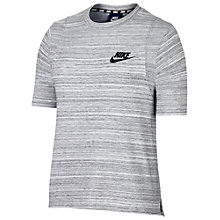 Buy Nike Sportswear Advance 15 Top, White/Black Online at johnlewis.com
