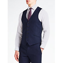Buy Richard James Mayfair Speckled Wool Flannel Slim Fit Waistcoat, Cobalt Blue Online at johnlewis.com