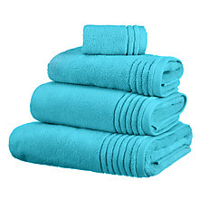 Buy John Lewis Ultra Soft Towels, Turquoise Online at johnlewis.com