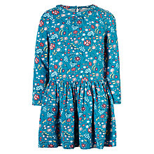 Buy John Lewis Girls' Scattered Floral Dress, Turkish Tile Online at johnlewis.com