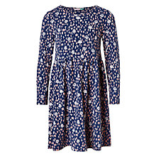 Buy John Lewis Girls' Mini People Jersey Dress, Medieval Blue Online at johnlewis.com