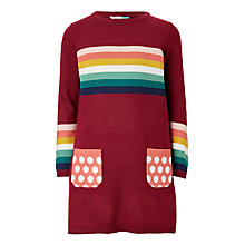 Buy John Lewis Girls' Stripe Knit Dress Online at johnlewis.com