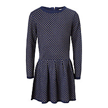 Buy John Lewis Girls' Textured Knit Dress, Medieval Blue Online at johnlewis.com