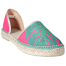 Buy John Lewis Lana Two Part Espadrilles, Pink/Multi Online at johnlewis.com