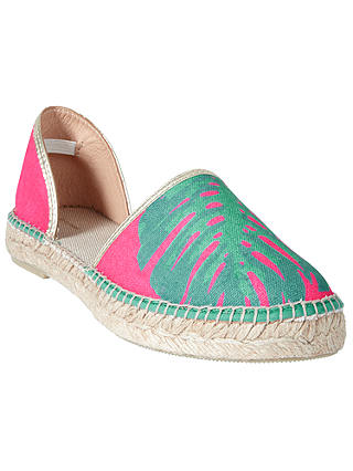 Buy John Lewis Lana Two Part Espadrilles, Pink/Multi, 6 Online at johnlewis.com
