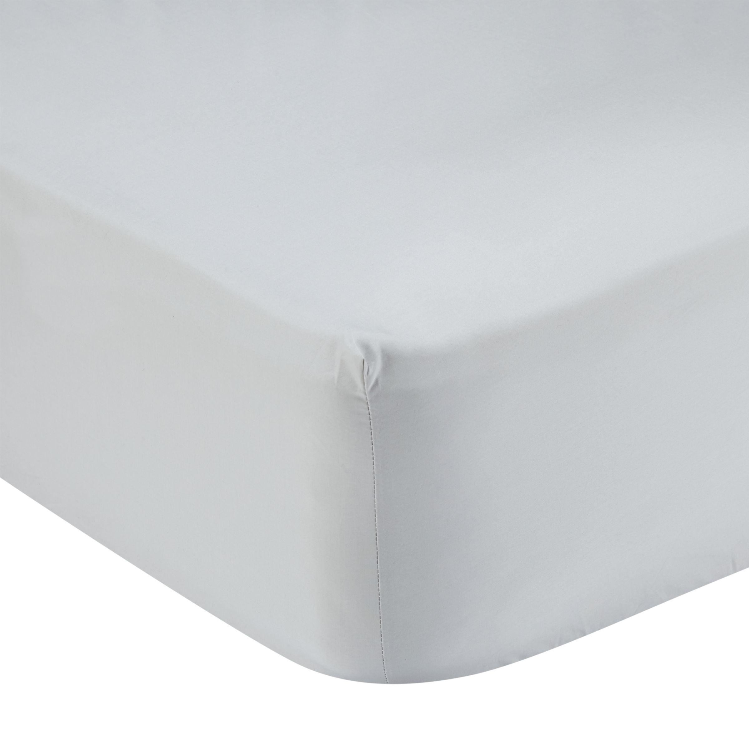 John Lewis & Partners 400 Thread Count Crisp & Fresh Egyptian Cotton Deep Fitted Sheet