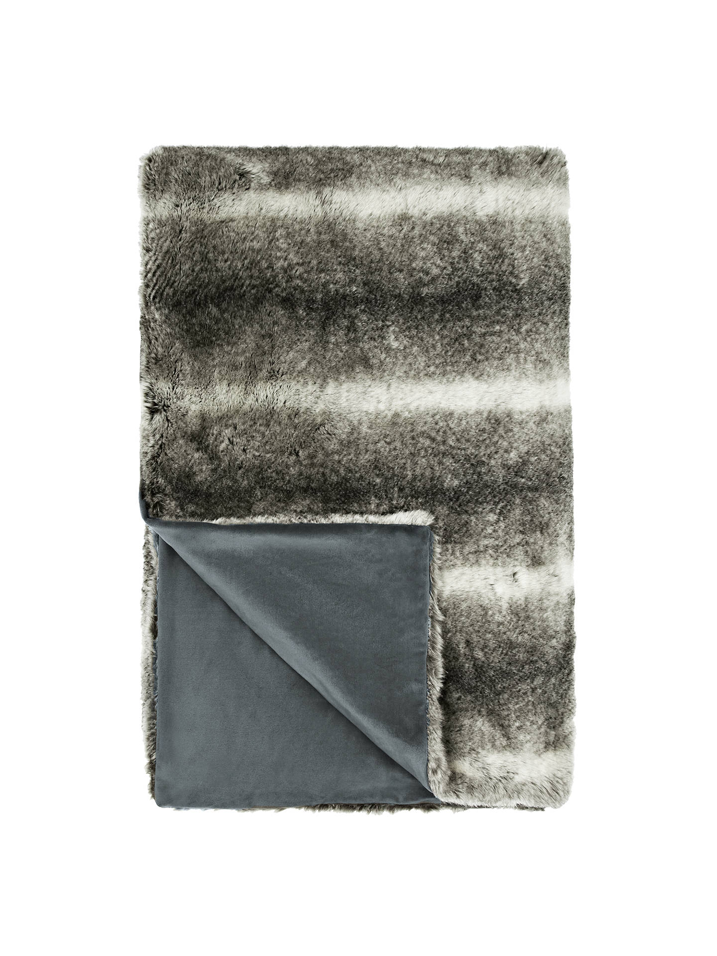 BuyJohn Lewis & Partners Faux Fur Throw, Grey Online at johnlewis.com