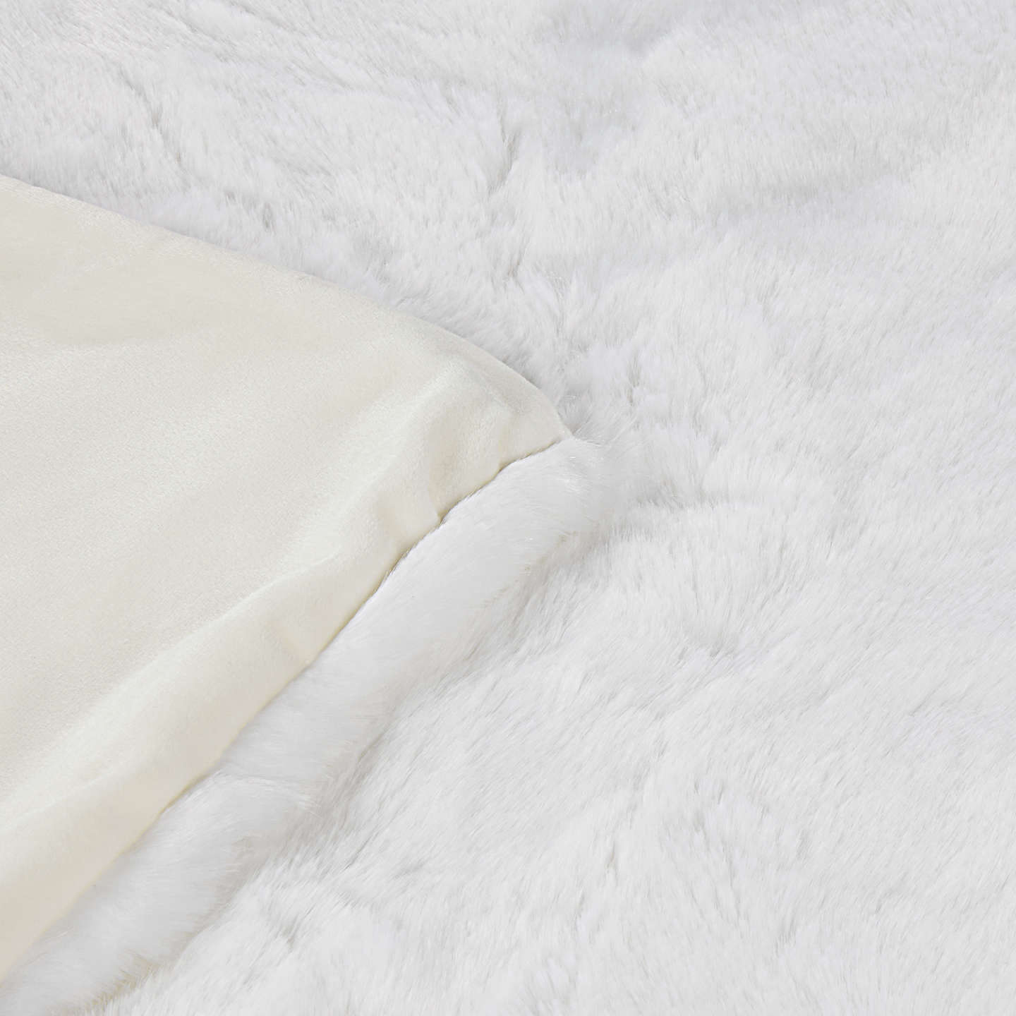 BuyJohn Lewis Faux Fur Throw, L200 x W150cm, White Online at johnlewis.com