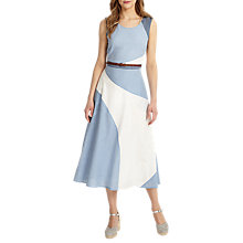 Buy Phase Eight Chelle Colour Block Dress, Blue/White Online at johnlewis.com