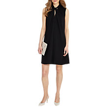 Buy Phase Eight Nadine Knot Neck Dress, Black Online at johnlewis.com