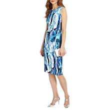 Buy Phase Eight Brush Stroke Dress, Blues Online at johnlewis.com