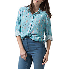Buy Sugarhill Boutique Blair Mermaid Shirt, Dusky Blue Online at johnlewis.com