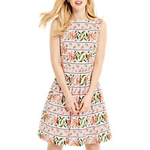 Buy Oasis Ascot Floral Stripe Dress, Multi/Pink Online at johnlewis.com