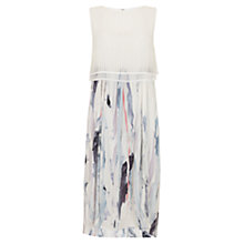 Buy Mint Velvet Mesh Cape Lili Print Dress, Multi Online at johnlewis.com