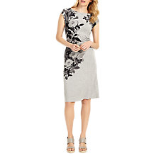Buy Phase Eight Chantay Rose Print Dress, Silver Marl Online at johnlewis.com