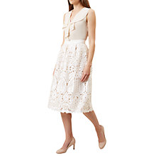 Buy Hobbs Emmie Skirt, Ivory Online at johnlewis.com