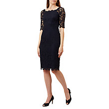 Buy Hobbs Miller Lace Dress, Navy Online at johnlewis.com
