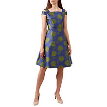Buy Hobbs Giovanna Dress, Blue/Green Online at johnlewis.com