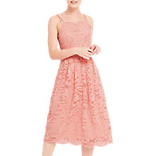 Buy Oasis Lace Cami Midi Dress, Coral Online at johnlewis.com