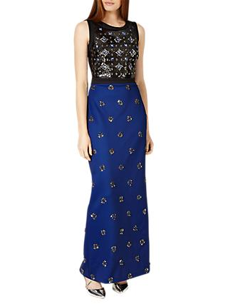 Phase Eight Collection 8 Gabby Embellished Dress, Cobalt