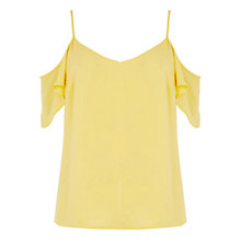 Buy Oasis Cold Shoulder Cami, Mid Yellow Online at johnlewis.com