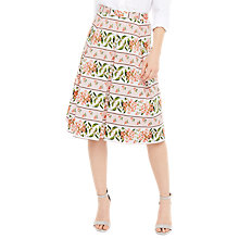 Buy Oasis Summer Floral Stripe Skirt Online at johnlewis.com