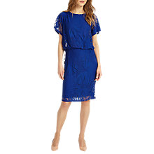 Buy Phase Eight Pia Palm Burnout Dress, Blue Online at johnlewis.com