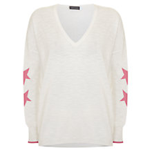 Buy Mint Velvet Star Sleeve Jumper, Multi Online at johnlewis.com