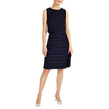 Buy Phase Eight Gaia Layered Dress, Navy Online at johnlewis.com