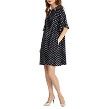 Buy Phase Eight Zoe Spot Dress, Navy/Ivory Online at johnlewis.com