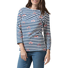 Buy Sugarhill Boutique Brighton Flamingo Stripe Top, White/Navy Online at johnlewis.com