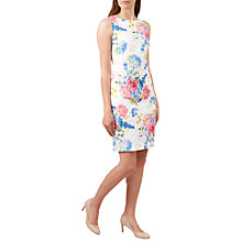 Buy Hobbs Danni Floral Print Dress, Ivory/Multi Online at johnlewis.com