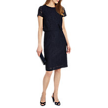 Buy Phase Eight Ira Lace Dress, Navy Online at johnlewis.com