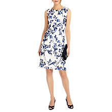Buy Phase Eight Lola Lace Floral Print Dress, White/Blue Online at johnlewis.com