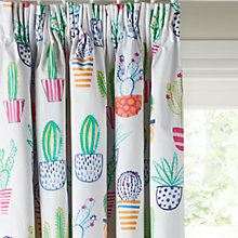 Buy little home at John Lewis Cactus Pencil Pleat Blackout Lined Children's Curtains Online at johnlewis.com