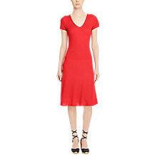 Buy Lauren Ralph Lauren Cotton-Blend Sweater Dress, Fresh Tomato Online at johnlewis.com