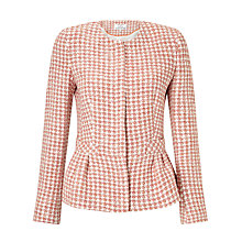 Buy Helene For Denim Wardrobe Aimee Peplum Jacket, Coral Online at johnlewis.com
