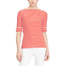Buy Lauren Ralph Lauren Boat Neck Stripe Top Online at johnlewis.com