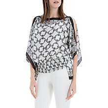 Buy Max Studio Butterfly Print Handkerchief Top, Ivory Online at johnlewis.com