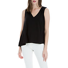 Buy Max Studio Sleeveless Jersey Top, Black Online at johnlewis.com