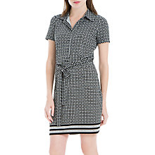 Buy Max Studio Printed Jersey Shirt Dress, Black/White Online at johnlewis.com