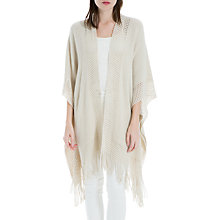 Buy Max Studio Fringe Detail Shawl, Beige Online at johnlewis.com