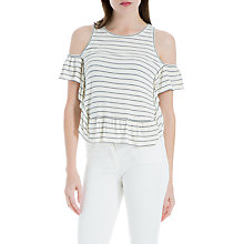 Buy Max Studio Cold Shoulder Stripe Jersey Top, Ivory Online at johnlewis.com