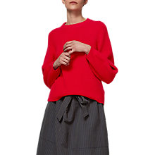 Buy Toast Balloon Sleeve Jumper, Scarlet Online at johnlewis.com