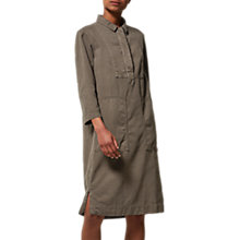 Buy Toast Cotton Twill Workwear Dress, Olive Online at johnlewis.com