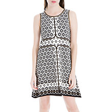Buy Max Studio Sleeveless Printed Ponte Dress, Black/White Online at johnlewis.com
