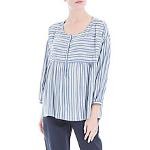 Buy Max Studio 3/4 Sleeve Stripe Blouse, Blue/White Online at johnlewis.com