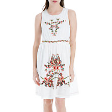 Buy Max Studio Sleeveless Embroidered Dress, White Online at johnlewis.com