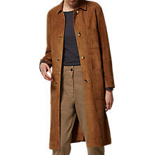 Buy Toast Suede Leather Coat, Vicuna Online at johnlewis.com